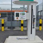 A Transport for London hydrogen vehicle fuelling station in Stratford
