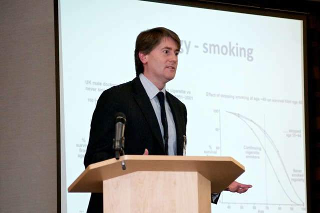 Dr Ian Mudway of King's College London also spoke at the Sheffield event