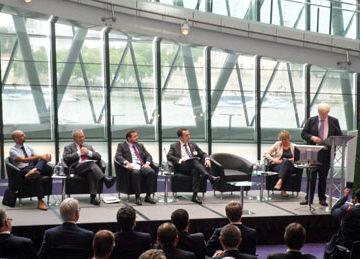 Boris Johnson speaking at today's Global Bus Summit