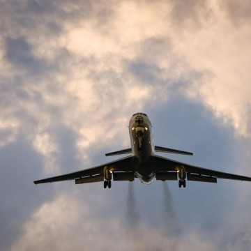 The study looked at aircraft emissions at