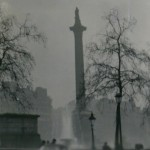 Nelson's Column during the Great Smog of 1952 (photo: N T Stobbs. Licensed under CC BY-SA 2.0 via Wikimedia Commons)