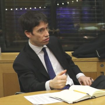 Defra minister Rory Stewart (pictured) is representing the UK in the discussions