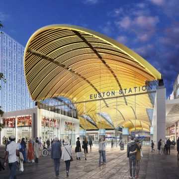 Construction of a new Euston station (as in the artist's impression) would impact on Camden