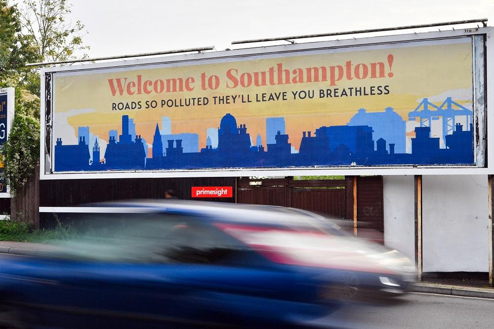 Southampton air quality billboard