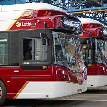 electric bus Edinburgh air quality